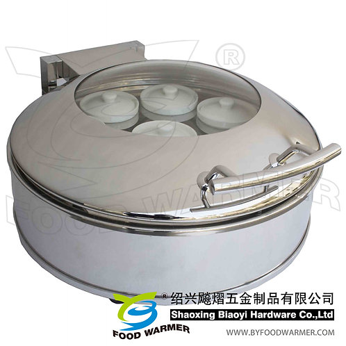 Standard round luxury Chinese stew soup chafer