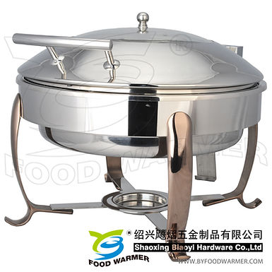 Copper-colored feet standard round electric heating chafer
