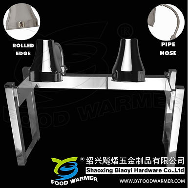 2-Lamp stainless steel no-base heat lamp station