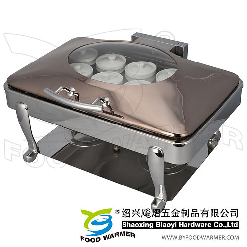 Oblong electric heating Chinese stew sup chafer
