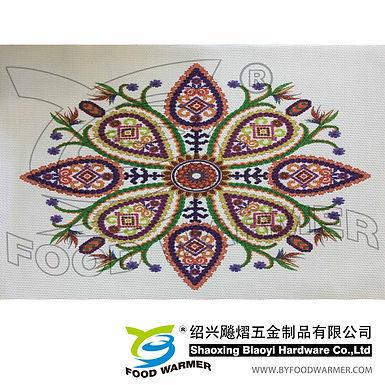 Kaleidoscopic textilene table mat