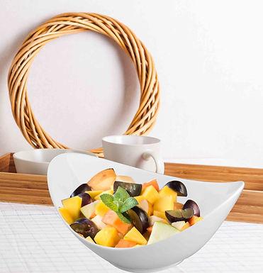 5 Star Hotel Supplied FDA LD Bone China Ivory Porcelain Salad Bowl