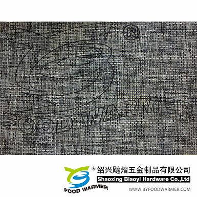Sack cloth black textilene dinner mat