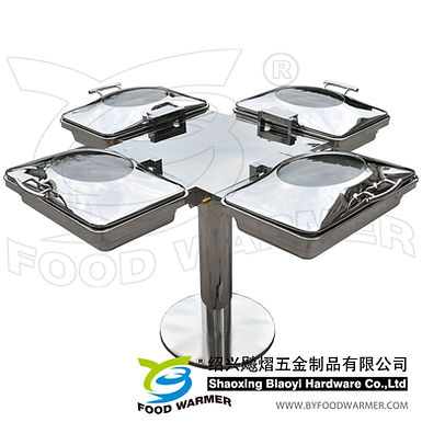 Combo rotating chafing station 4-Oblong chafers
