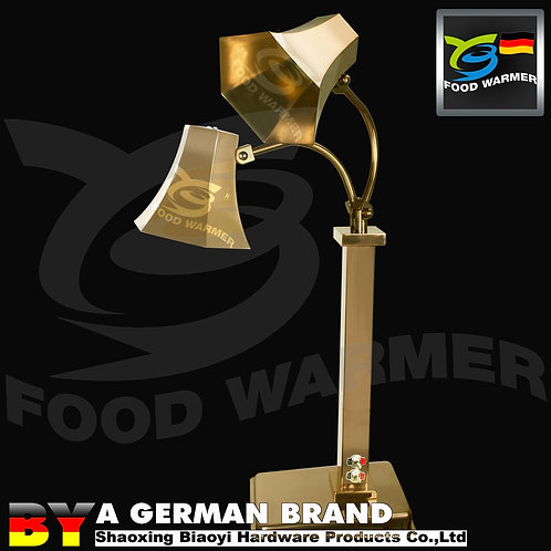 DualHexahedral Lamp Shade 120°CInfraredHeat Lamp of One Peace Golden Color