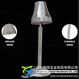 1-Lamp round base heat lamp food warmer