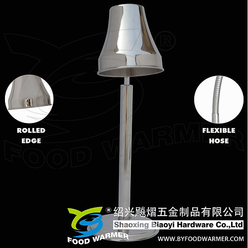 1-Lamp round base heat lamp food warmer