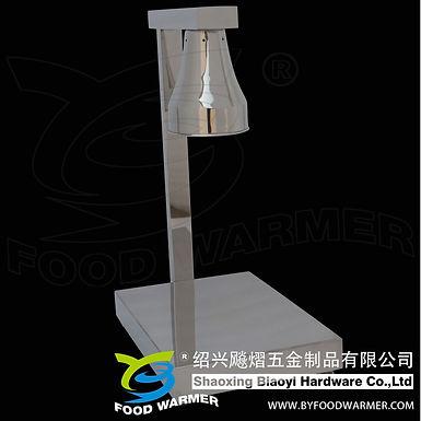 Un-adjustable 1-Lamp stainless steel vertical base food warmer