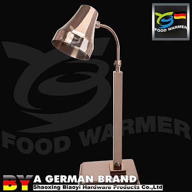 One Piece Copper Color Classic Free Standing Heat Lamp with 60°C Infrared Light