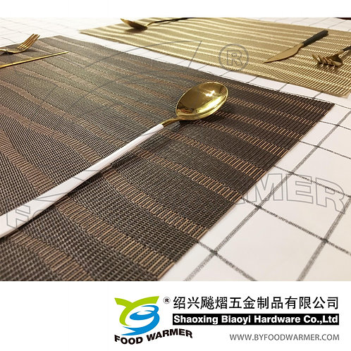 Dark brown current textilene place mat