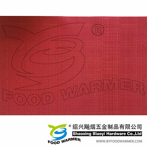 Scarlet color textilene dinner mat