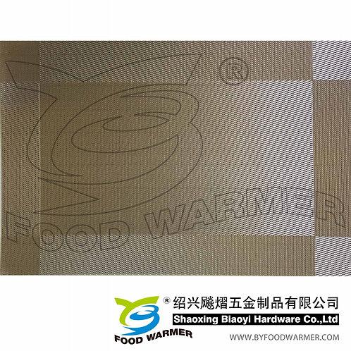 Gold textilene dinner mat