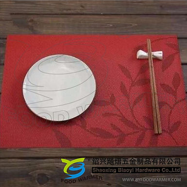 Scarlet leaves pattern textilene place mat