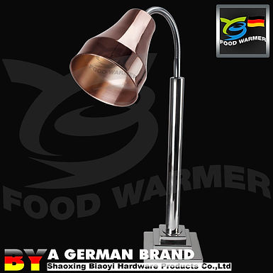 Copper Colored Heat Lamp Food Warmer , Buffet Heat Lamp For Dry Food Service
