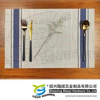 Blue strips textilene place mat