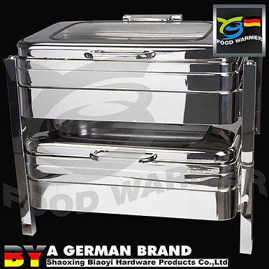 Induction Cooker Apllicable Oblong Chafing Dish with All SUS 304 Supreme Quality
