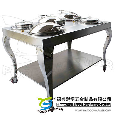 Mobile combo round chafer station