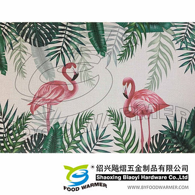 Tropical pattern textilene place mat
