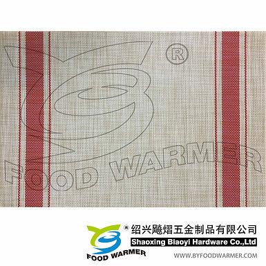 Red strips textilene table mat