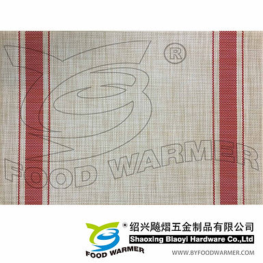 Red strips textilene table mat