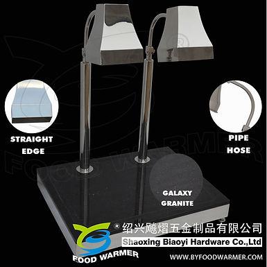 Tetrahedron heat lamp black granite rectangle base carving station