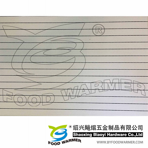 Nodic black line textilene dinner mat