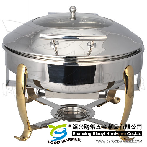 Golden feet standard round electric heating chafer