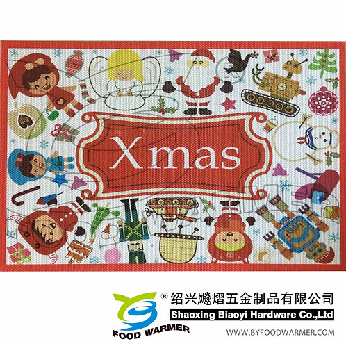 Merry Christmas deer textilene place mat