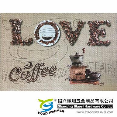 Love coffee textilene dinner mat