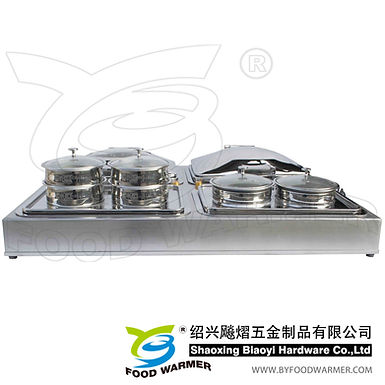 4-in-1 Counter top combo chafing station