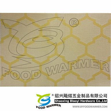 Yellow cloud textilene dinner mat