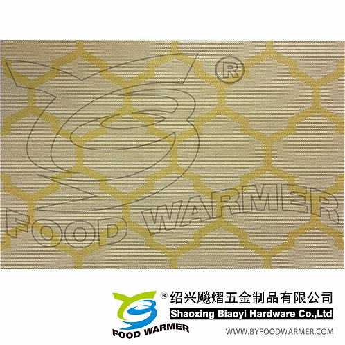 Yellow cloud textilene dinner mat