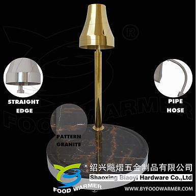 Golden 1-Lamp pattern granite round base carving station