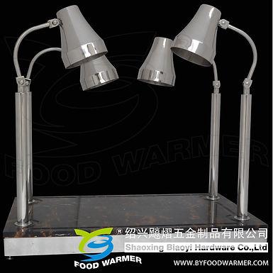 4 Lamp pattern granite base heat lamp carving station