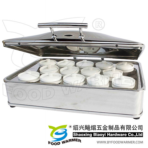 Oblong luxury Chinese stew soup chafer