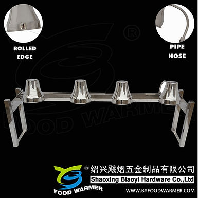 4-Lamp stainless steel no-base heat lamp station
