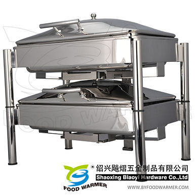 Stackable standard oblong electric warming chafing dish