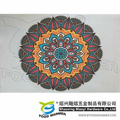 Kaleidoscopic textilene place mat