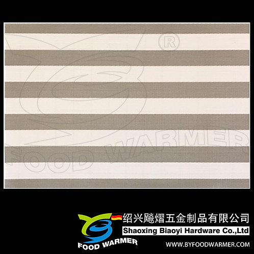 Canvas grey strips textilene dinner mat