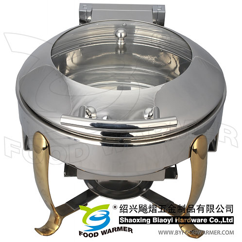 Mini golden feet electric heating chafing dish