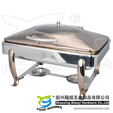 Copper standard oblong electric heating chafing dish