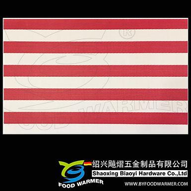 Canvas red strips textilene dinner mat
