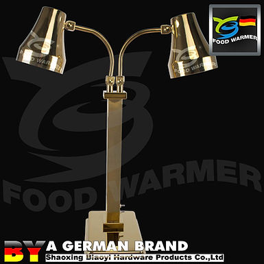Dual Heating Golden Infrared Free Stand Heat Lamp for Commercial Kitchen