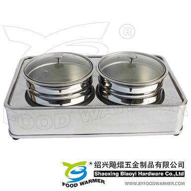 Oblong luxury electric heating dual bain marie