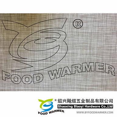 Brown color textilene place mat