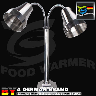 Stainless Steel Original Color Dual Lamp ShadeFree Standing Infrared Heat Lamp