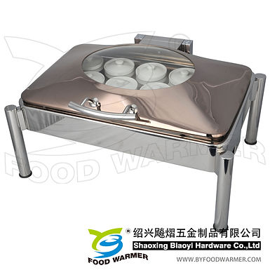 Stackable standard oblong Chinese stew soup chafer