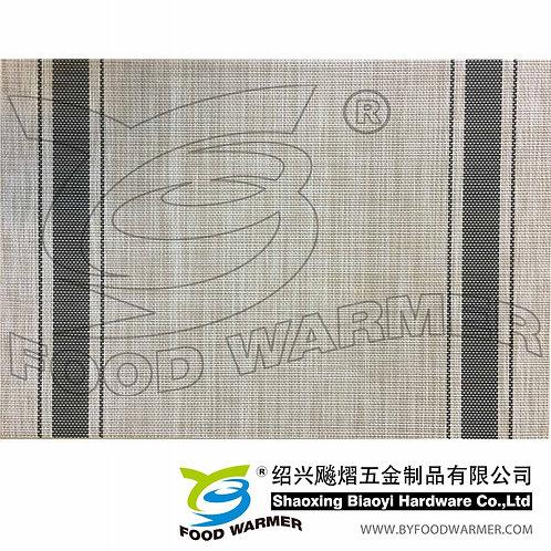Black strips textilene dinner mat