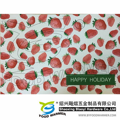 Strawberry textilene place mat