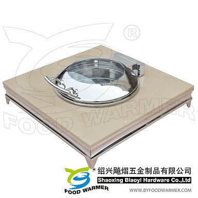 Granite base standard chafing dish